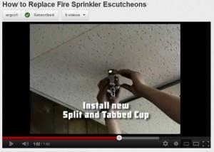 sprinkler escutcheons